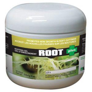 ROOT + Gel à bouture spécialement conçu pour les plantes à bois tendre. Contient un antiseptique d'origine organique permettant de maintenir le gel absent de toute contamination. Protège la tige. Assez liquide pour un dosage uniforme sans excès.