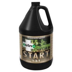nutri+ START Énergise les jeunes boutures. Élimine le choc de transplantation. Pour substrats de propagation. Compatible avec tout engrais minéral ou organique. Développe rapidement les racines saines et vigoureuses dans les substrats de propag