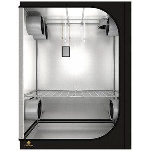 Tente professionnelle, conçue avec un Mylar très réfléchissant Diamètre des barres Ø19 mm et tissu indéchirable 210D Nombreuses chaussettes et fenêtres pour de multiples configurations Nombreux accessoires inclus (câbleIT - pocketIT - HookIT - Stra