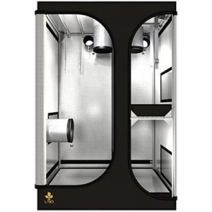 Tente professionnelle, conçue avec un Mylar très réfléchissant Diamètre des barres Ø19 mm et tissu indéchirable 210D Nombreuses chaussettes et fenêtres pour de multiples configurations Nombreux accessoires inclus (câbleIT - pocketIT - HookIT - StrapIT
