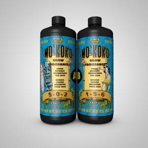 PAS DISPONIBLE EN LIVRAISON La formule 2-parties Floraison de MO'KOKO est conçue pour cultiver les plantes florales et fruitières dans un milieu de croissance composé de fibre de coco comme le Substrat de coco de qualité supérieur Mo'Koko. Utilisez dès