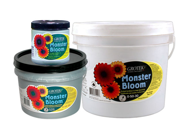 Amplificateur de floraison classique, Monster Bloom™ est réputé pour sa capacité à aider les plantes pendant les stades intermédiaires du développement floral. Amplificateur de floraison classique, Monster Bloom™ est réputé pour sa capacité à aider les
